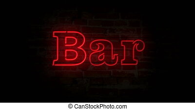 Neon sign on air  On air neon sign light on brick wall background