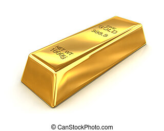 Bar of Fine Gold - A bar of fine gold with a net weight of...