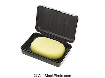 Bar of soap in black box