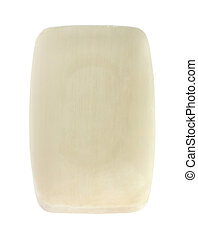 Bar of soap on white background