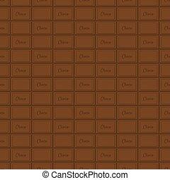bar, pattern., seamless, chocolade