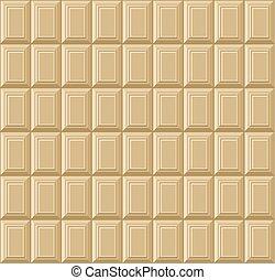 bar, pattern., seamless, czekolada, wektor, tło, biały