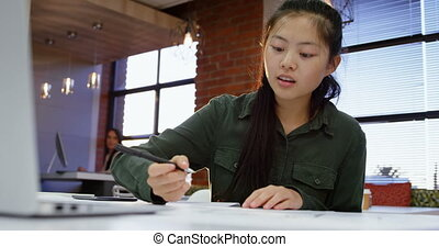 bar samoobsługowy, samica, pracujący, wykonawca, 4k, biuro