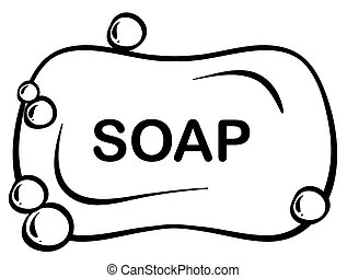 Bar soap - Close up bar of soap with foam