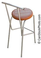 Bar stool isolated on white