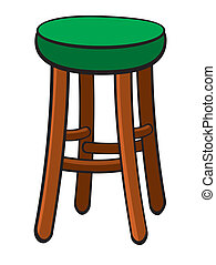 Bar Stool - Vector illustration of a bar stool.