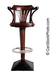 bar stool with cast-iron base