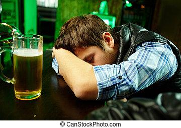 bar, sueño
