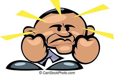 Barack Obama bad news - barack obama bad news isolated on ...