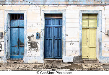 Cuba - Baracoa, Cuba - colonial architecture. Colorful...