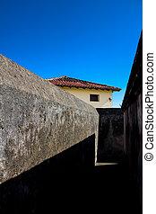 baracoa, murs, fort, cuba