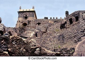 Baradari Hall, Golconda Fort, Hyderabad, Andhra Pradesh, India, Asia