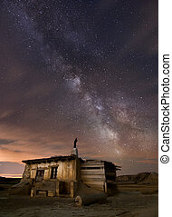 barak, pasterz, pustynia noc