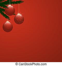 baratijas, gradiente, navidad, rojo, árbol