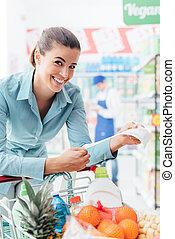 barato, tienda de comestibles