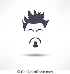 barba, cara homem