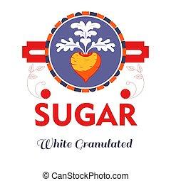 barbabietola rossa, prodotto, naturale, isolato, zucchero, dolcificante, icona
