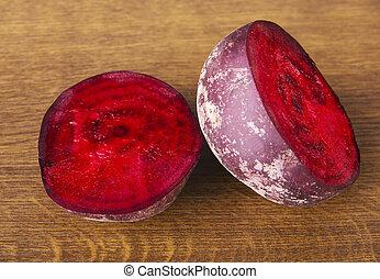 barbabietola rossa, two., diviso, uno
