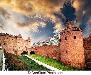 barbacane, forteresse