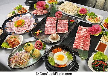 barbacoa, coreano