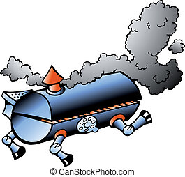 barbacoa, corriente, barril