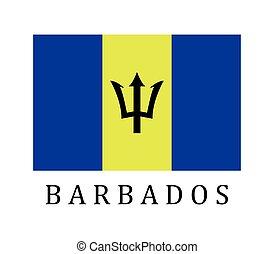 barbade drapeau
