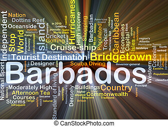 Barbados background concept glowing