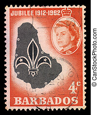 emblem and map of Barbados
