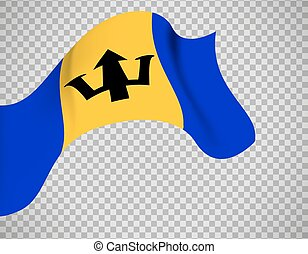 Barbados flag on transparent background - Barbados flag icon...