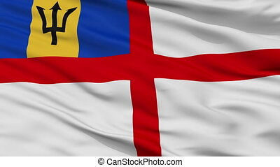 Barbados Naval Ensign Flag Closeup Seamless Loop - Naval ...
