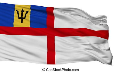 Barbados Naval Ensign Flag Isolated Seamless Loop