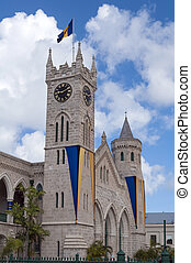 Barbados Parliament building in capital city of Bridgetown.