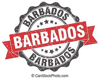 Barbados round ribbon seal