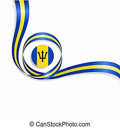 Barbados wavy flag background. Vector illustration. -...