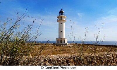 Barbaria cape Formentera island lighthousein mediterranean...