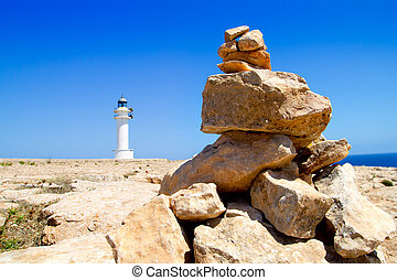 Barbaria formentera Lighthouse make a wish stones - Barbaria...