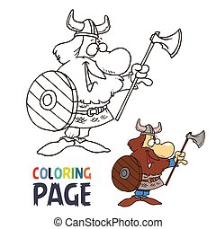 barbarian cartoon coloring page