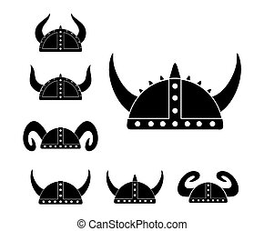 barbarian helmet - pictogram - suitable for illustrations