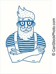 barbe, hipster