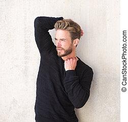 barbe, modèle, mode, mâle, beau