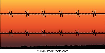 Barbe Wire Fence