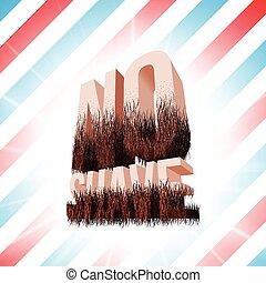 barbear, lettering, não, símbolo, engraçado, hipster, novembro, barba