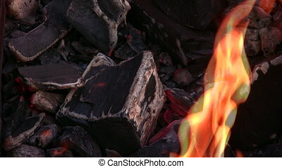 barbecue, 2, flamme