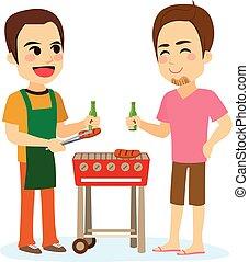 barbecue, amici