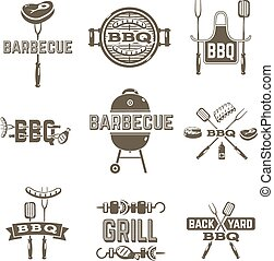 Barbecue And Grill Labels