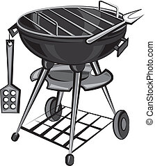 barbecue, apparaat, grill