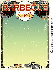 Barbecue background with space for text