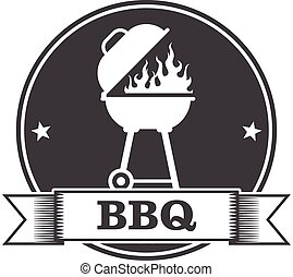 Barbecue (bbq) and grill party stamp