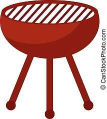 Barbecue, bbq icon, flat style. Isolated on white background. Vector illustration.