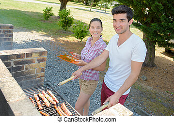 barbecue, camping, temps